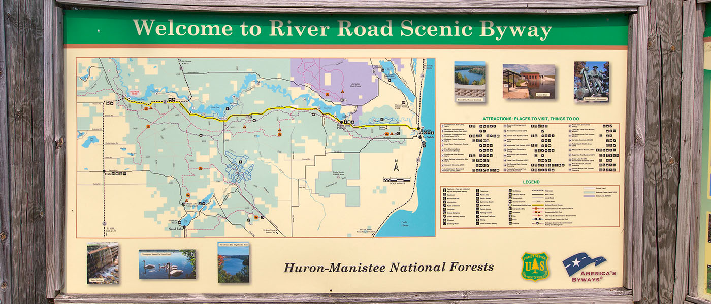 Map of the River Road Scenic Byway