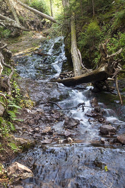 Jacob's Creek above the lowest drop