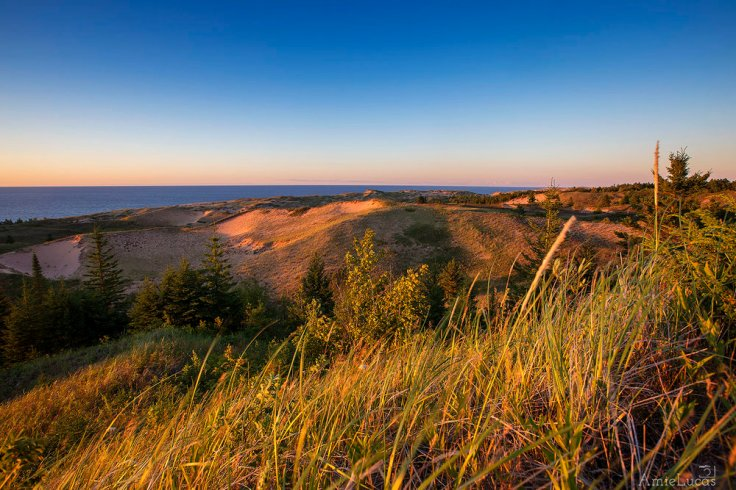 From above the dunes