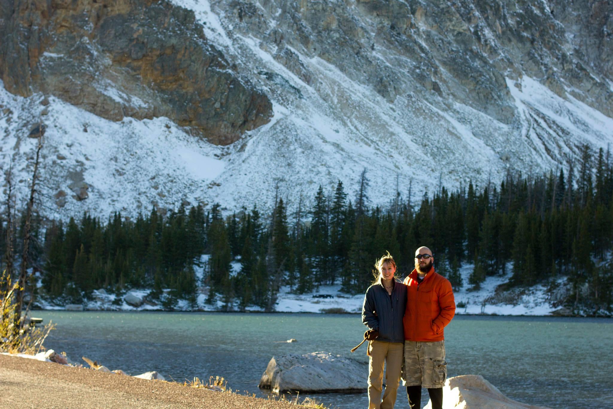 Amie and Steve at Mirror Lake