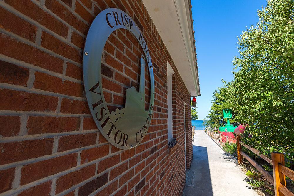 Crisp Point Visitor Center Sign