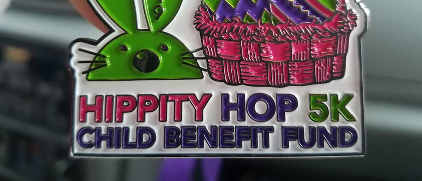Hippity Hop 5k Child Benefit Fund Medal
